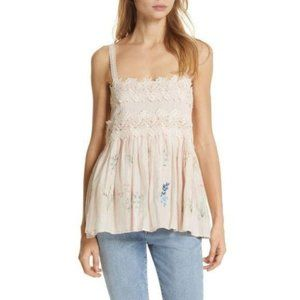 Love Sam Daisy Embroidered Camisole Top Pink S NEW